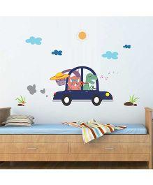Chipakk Animals Car Trip HD Kids Room Wall Decal - Multicolor