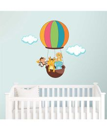 Chipakk Animals In Hot Air Balloon HD Quality Kids Room Wall Decal - Multicolor