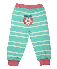 Magicberry Stripe Bottoms Apple Embroidery - Turquoise Peach