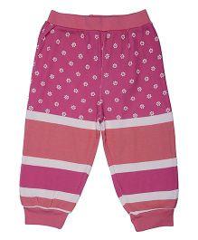 Magicberry Full Length Leggings Floral Print - Pink Peach
