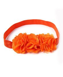 NeedyBee Tri Flower Headband - Orange