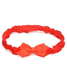 NeedyBee Soft Elastic Infant Headband With Bow - Orange