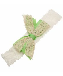 NeedyBee Crochet Baby Headband With A Big Bow - Green