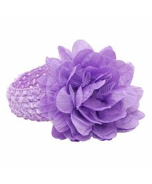 NeedyBee Flower Bunch Crochet Lace Headband - Purple