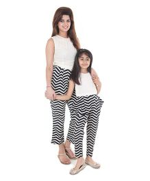 Pre Order : Chiquitita By Payal Bahl Smart Jumpsuit With Pokey Pockets - Black & White
