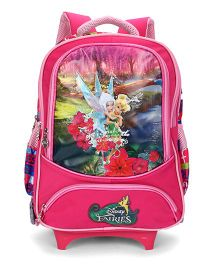 Disney Fairies School Trolley Bag Pink - 15 Inches