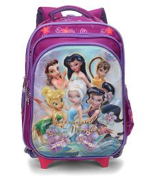 Disney Fairies School Trolley Bag Purple - 15 Inches