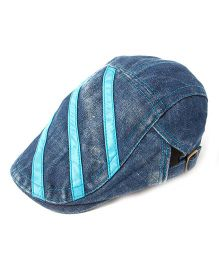 Little Hip Boutique Denim Stripes Cap - Indigo Blue