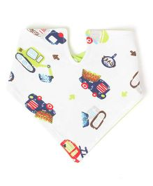 Little Hip Boutique Reversible Collar Bib - Neon Green & White