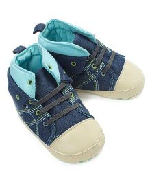 Little Hip Boutique Denim Sneaker Style Booties - Blue