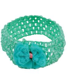 Miss Diva Head Wrap With Bow - Sea Green