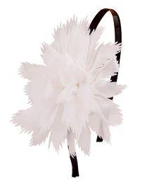 Miss Diva Rosette Hairband - White