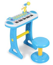 Comdaq Colorful Piano with Mike & Stool - Blue