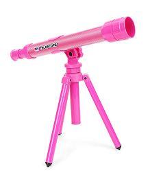 Comdaq Telescope With Tripod Stand - Pink