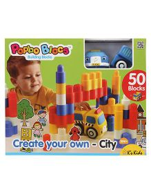K's Kids Create Your Own City Building Block Set - 50 Pieces