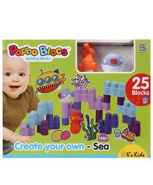 K's Kids Create Your Own Sea Building Block Set - 25 Pieces