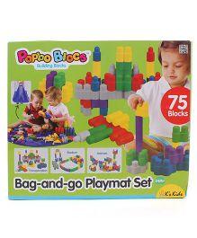 K's Kids Bag and Go Playmat Set Multicolor - 75 Pieces