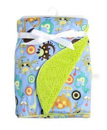 Milonee Dino World Baby Blanket - Blue