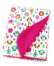 Milonee Small Owley Print Baby Blanket - Multicolor
