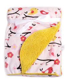 Milonee Tweety Tweety Birdie Baby Blanket - Pink