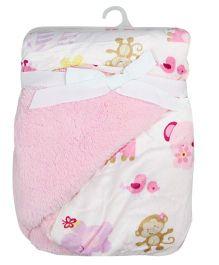 Milonee Animal Print Baby Blanket - Pink