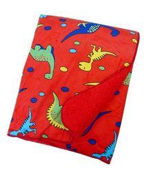 Milonee Jurrasic World Dino Print Baby Blanket - Red