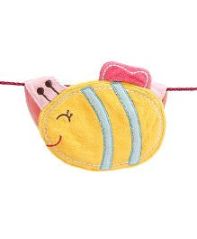 D'chica Cute Little Fish Bib - Yellow & Pink