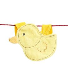 D'chica Cute Little Duck Bib - Yellow
