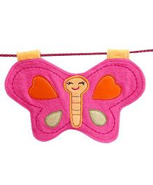 D'chica Cute Little Butterfly Bib - Pink & Yellow