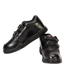 Rex School Shoes With Velcro Closure - Black