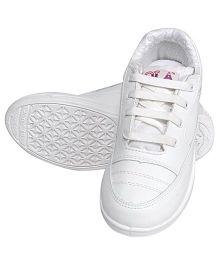 Rex School Shoes - White