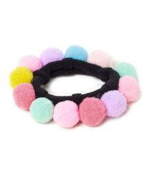 Kidcetra Pom Pom Hairband - Multicolour