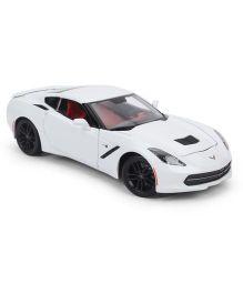 Maisto 2014 Corvette Stingray Z51 Coupe Car - White
