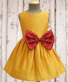 A.T.U.N. Shimmer Bow Dress - Yellow