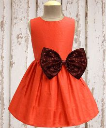 A.T.U.N. Shimmer Bow Dress - Orange