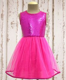 A.T.U.N. Shimmer & Twirl Dress - Hot Pink