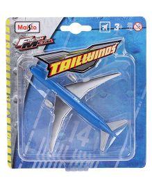 Maisto Tailwinds Aeroplane Toy Model - Blue And Silver
