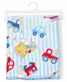 Mee Mee Blanket Vehicle Print MM 33039 A - Blue And White