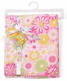 Mee Mee Blanket Floral Print MM 33039 A - Pink