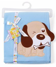 Mee Mee Blanket Embroidered Puppy MM 33040 A - Blue