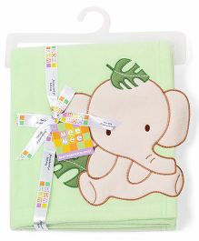 Mee Mee Blanket Elephant Patch MM 33040 A - Green