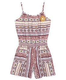 ShopperTree Singlet Aztec Print Jumpsuit - Multicolor