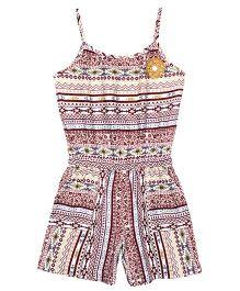 ShopperTree Singlet Aztec Print Jumpsuit - Multicolor