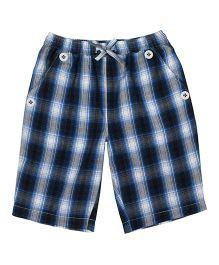 ShopperTree Checkered Print Shorts - Blue