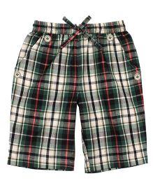 Shoppertree Checkered Shorts - Multicolor