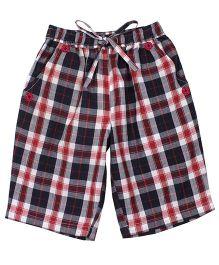 Shoppertree Checkered Shorts - Maroon
