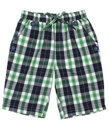 Shoppertree Checkered Shorts - Green