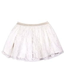 Shoppertree Net Skirt - White