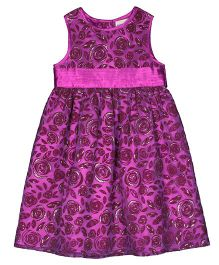 Shoppertree Sleeveless Party Wear Frock - Purple Pink