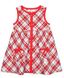 Shoppertree Sleeveless Checkered Dress - Red
